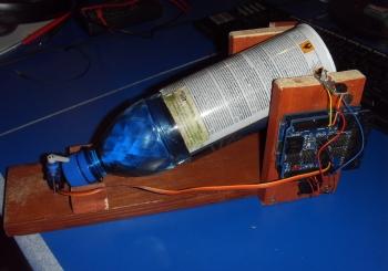 Arduino будильник поливающий водой